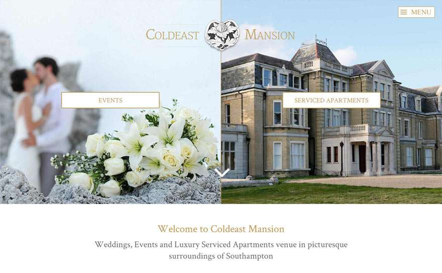 ColdeastMansion.co.uk Web Design Portfolio