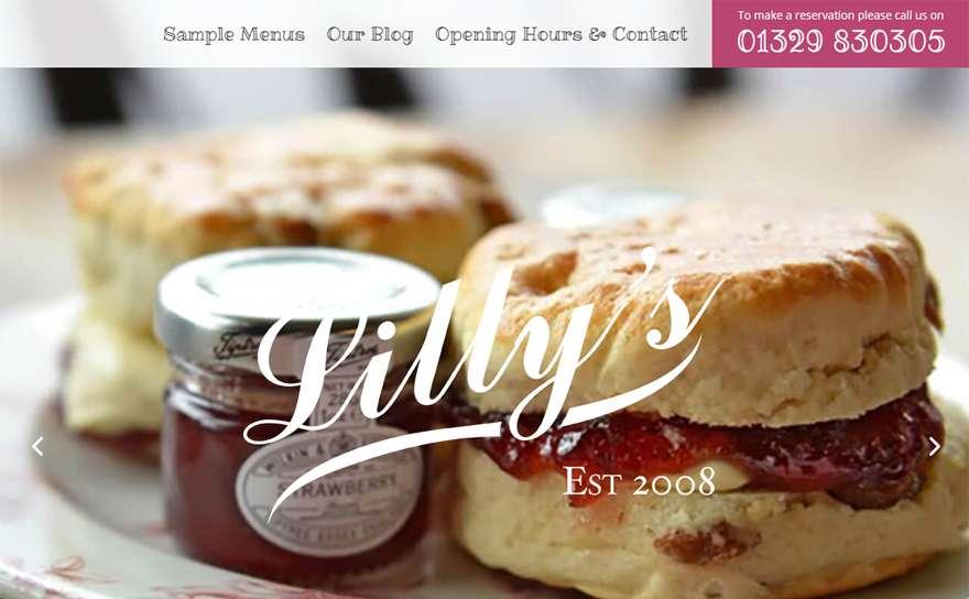LillysWickham.com Web Design Portfolio