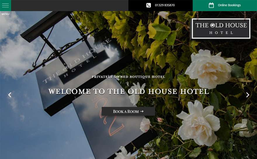 TheOldHouseHotel.co.uk Web Design Portfolio