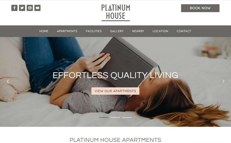 PlatinumHouseApartments.com Web Design Portfolio