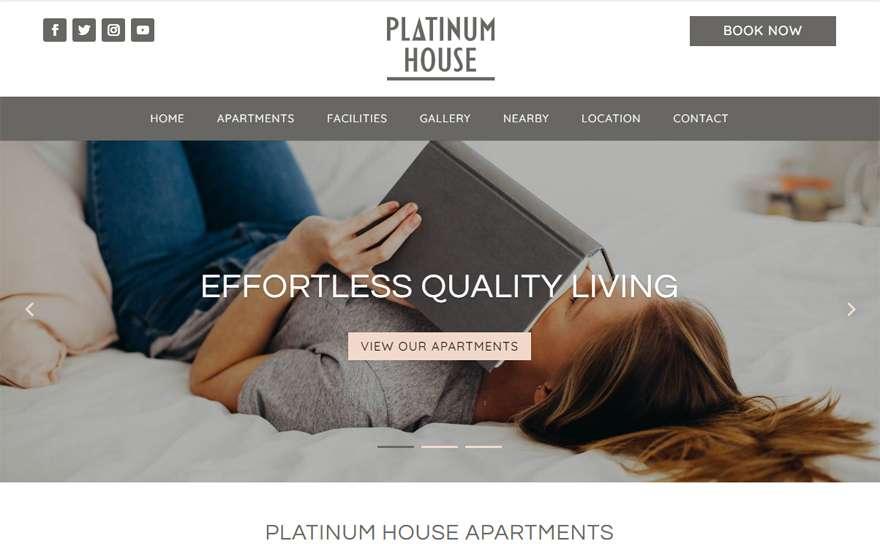 PlatinumHouseApartments.com Web Design Portfolio